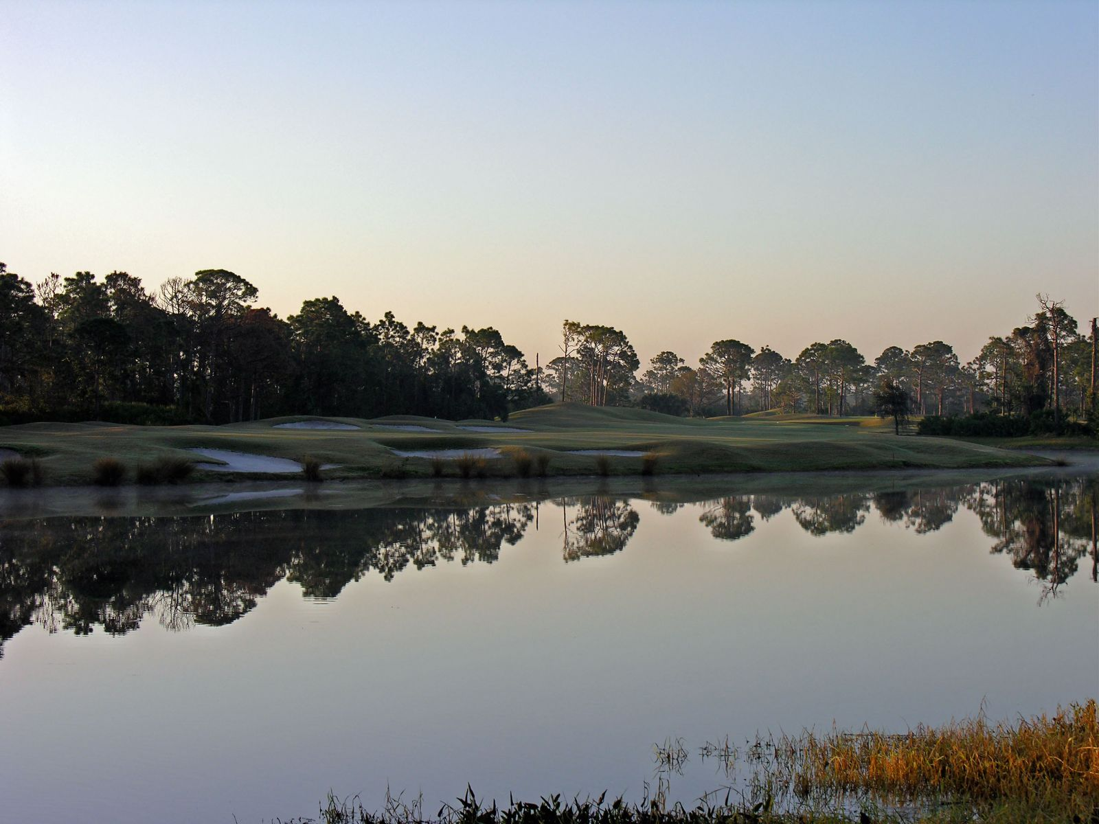 View of a pond on the course at Sandridge